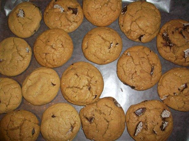 Tray full of fresh PB Nonpareil Cookies